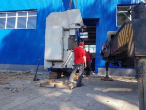 перемещение промышленного оборудования
